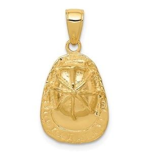 Other - 14K Yellow Hold Firemen's Helmet Necklace Charm